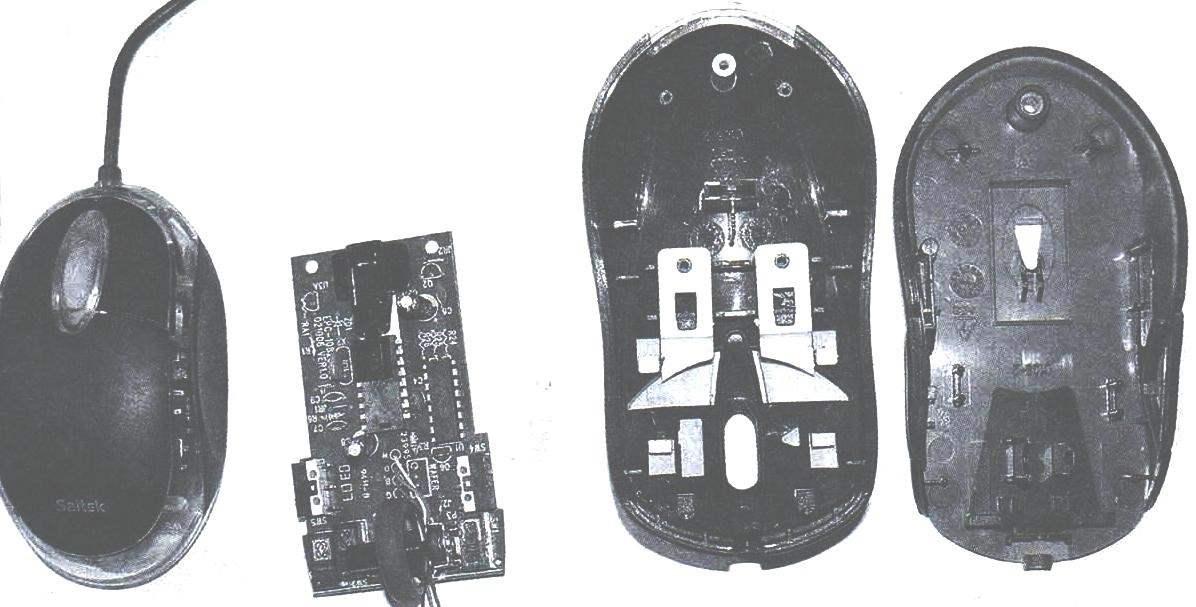 Фото 1. Вид оптической мыши Defender Optical 1330 со снятой крышкой корпуса