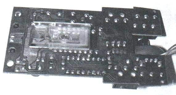 Фото 2. Печатная плата оптической мыши Defender Optical 1330 со стороны оптической линзы