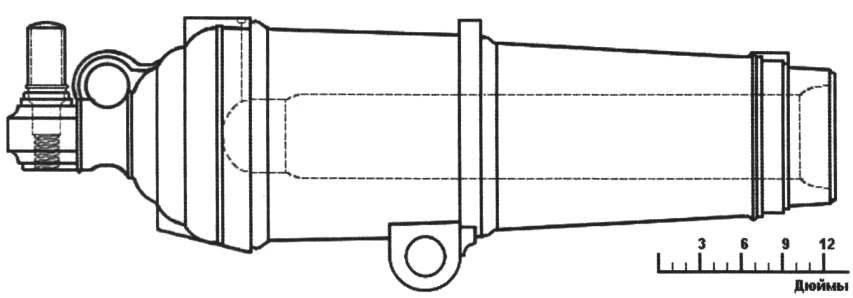 Рис. 2. Чугунная 24-фунтовая каронада (из книги «Наука морской артиллерии»)