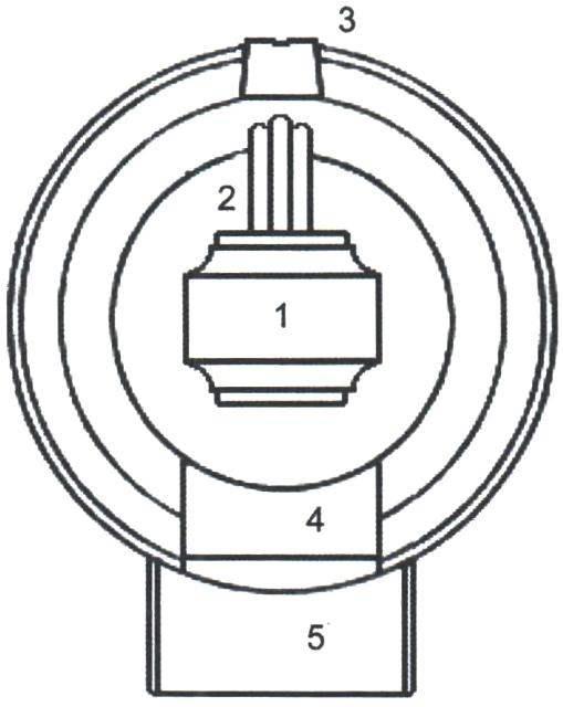 Рис. 3. Вид сзади чугунной 24-фунтовой каронады (из книги «Наука морской артиллерии»). Хорошо видны кольца торели