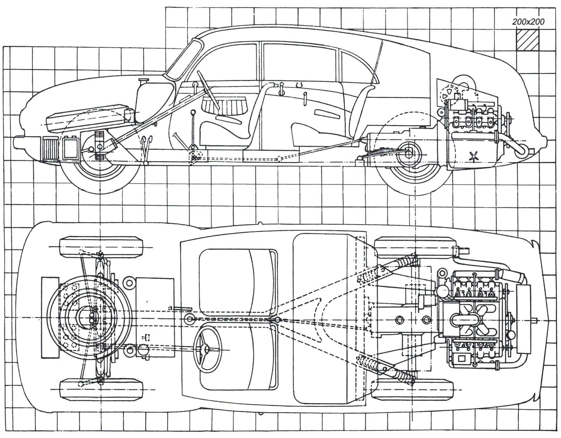 Шасси автомобиля Tatra-87