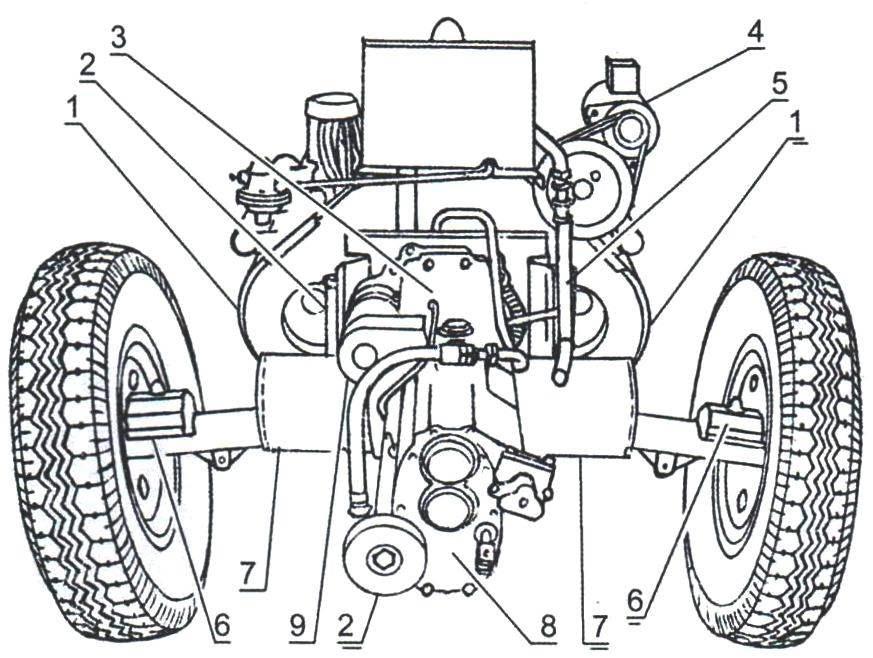 Силовой агрегат и задний мост автомобиля Таtrа-87