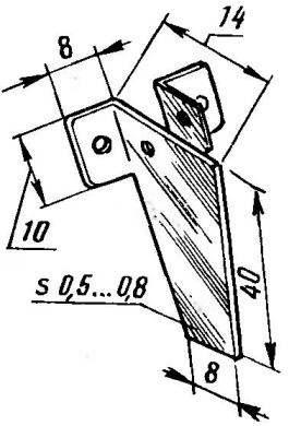 Руль (твердый алюминий; крепить мелкими шурупами)
