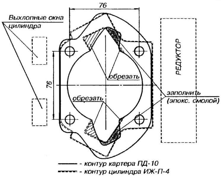 Схема доработки продувочных окон