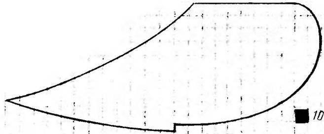 Развертка лемеха канавкооб-разователя