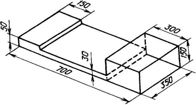 Каркас сиденья (фанера s 10)