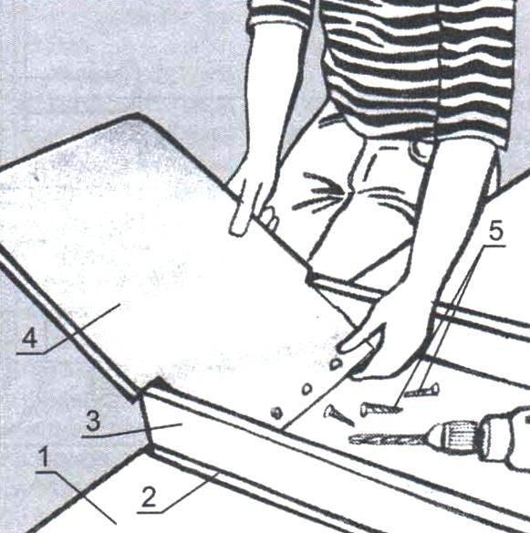 Установка спинки сиденья
