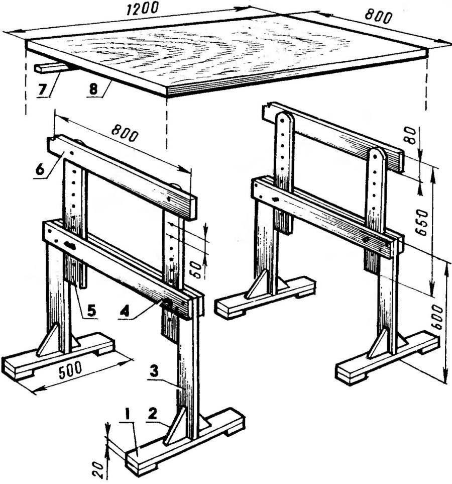 Стол изменяемого уровня и наклона