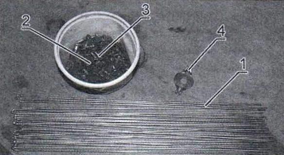Комплект спиц и ниппелей с шайбами для велосипедного колеса