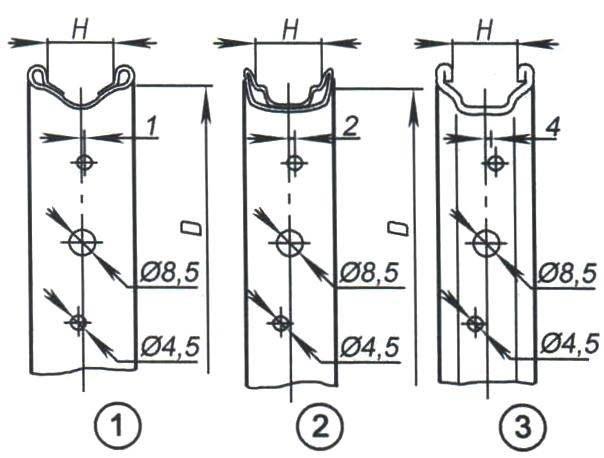 Варианты ободьев из стальной ленты