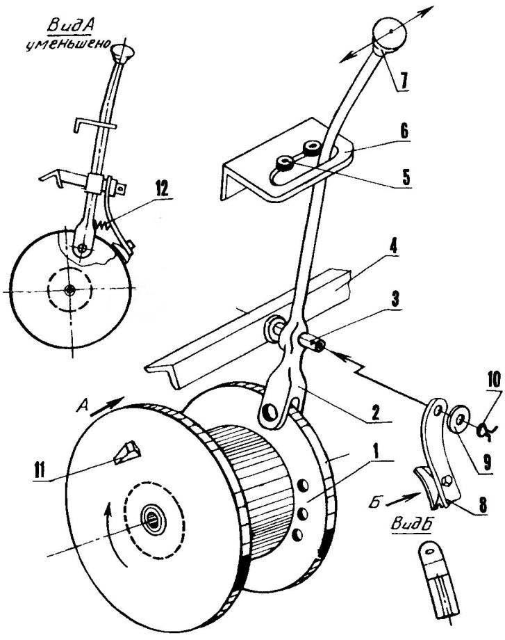Механизм подключения барабана