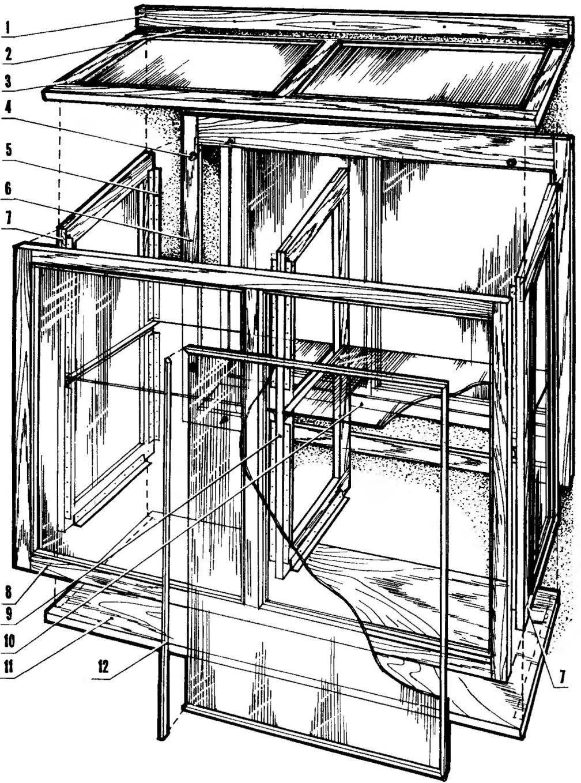 Схема сборки домика
