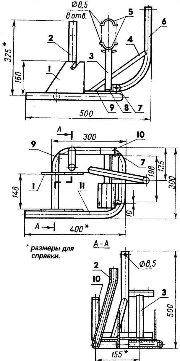 Рама (узлы, трубы и профили — из СтЗ)