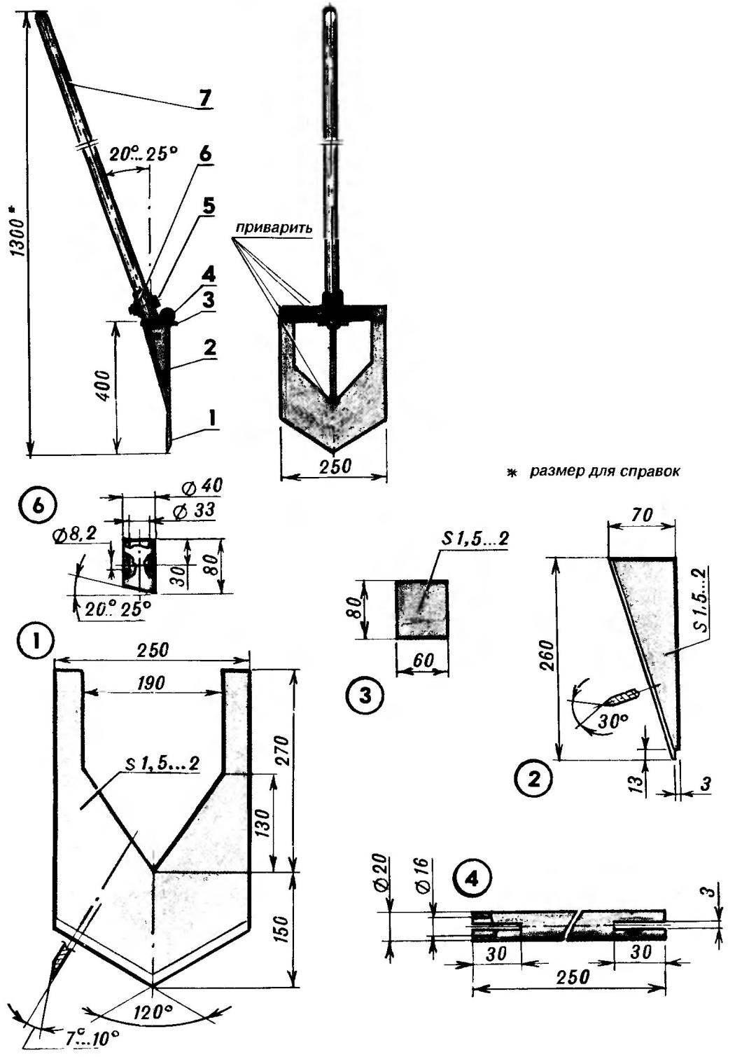 Модернизированная лопата