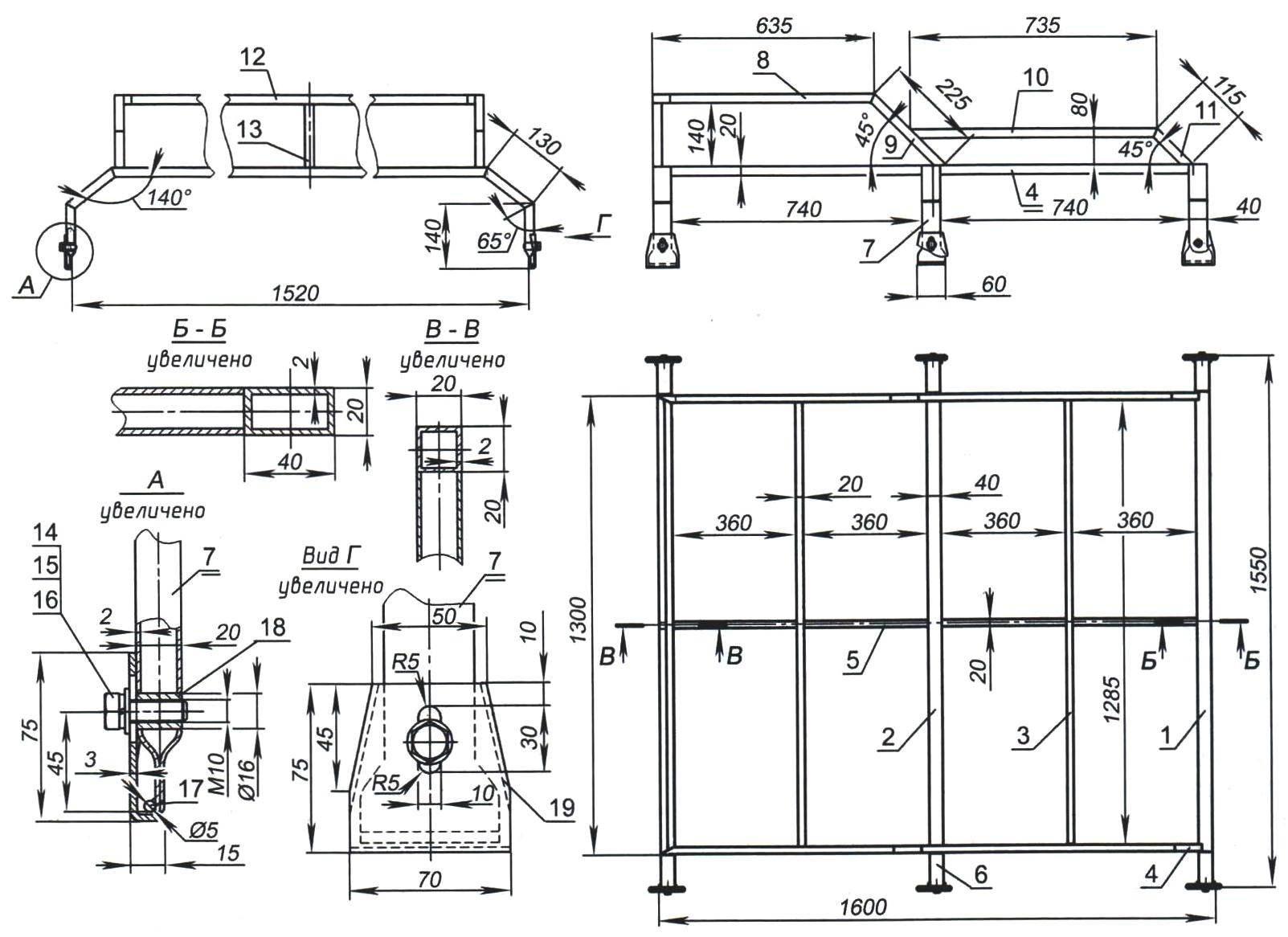 Реконструированный крышевой багажник УАЗа