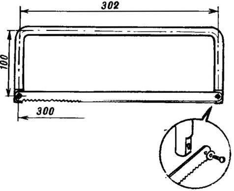 Рис.2. Ножовка с металлическим станком-рамкой