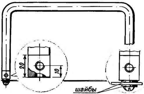 Рис.З. Станок на два положения пилки (показано ее горизонтальное положение)