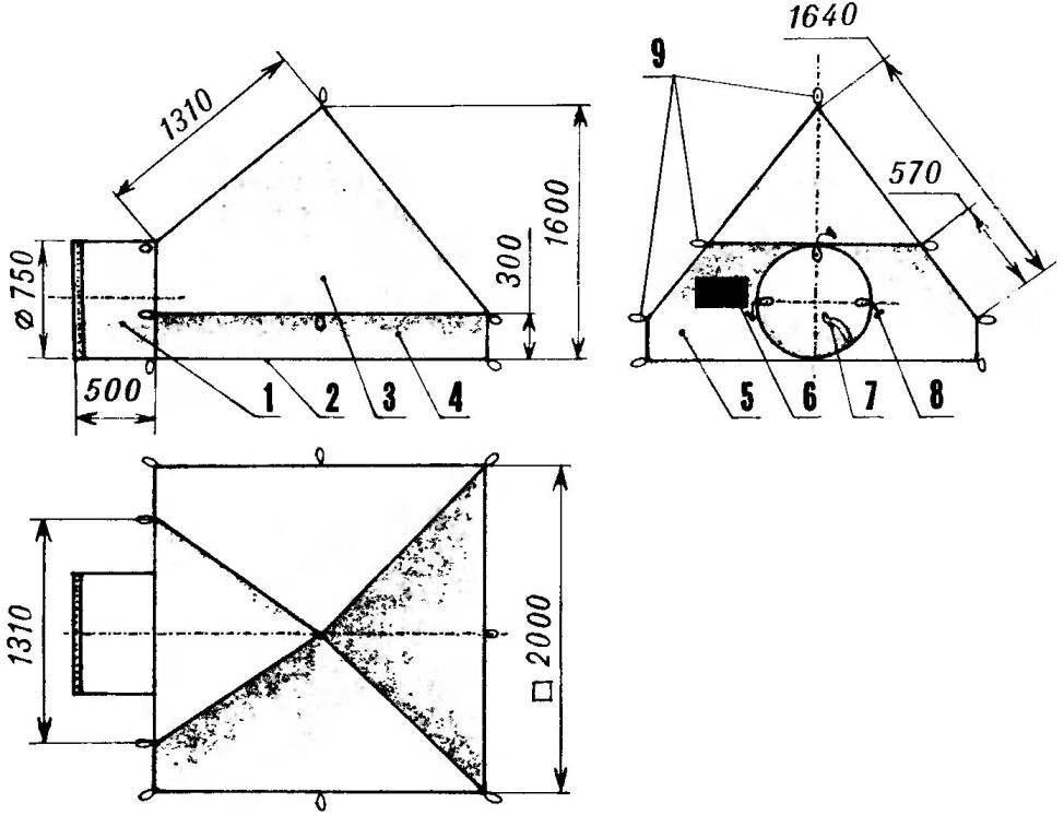 Палатка-пирамида