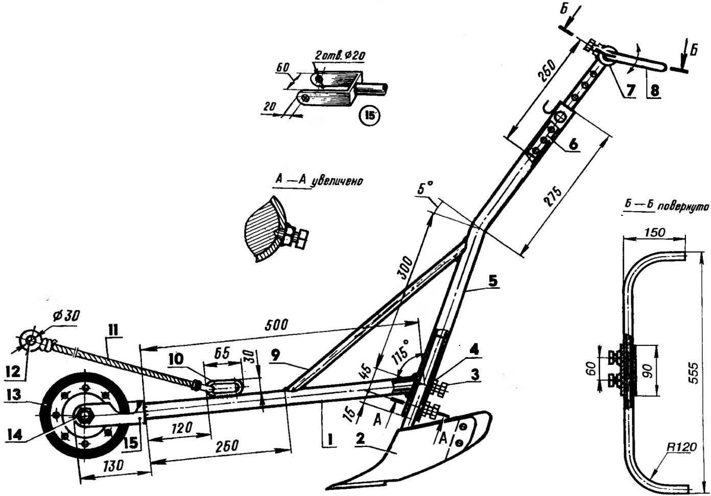 Рис. 2. Прополыцик-окучник