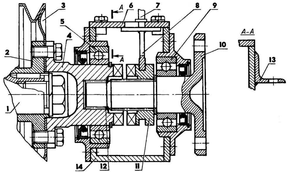 Кулачковая муфта ротора водомета