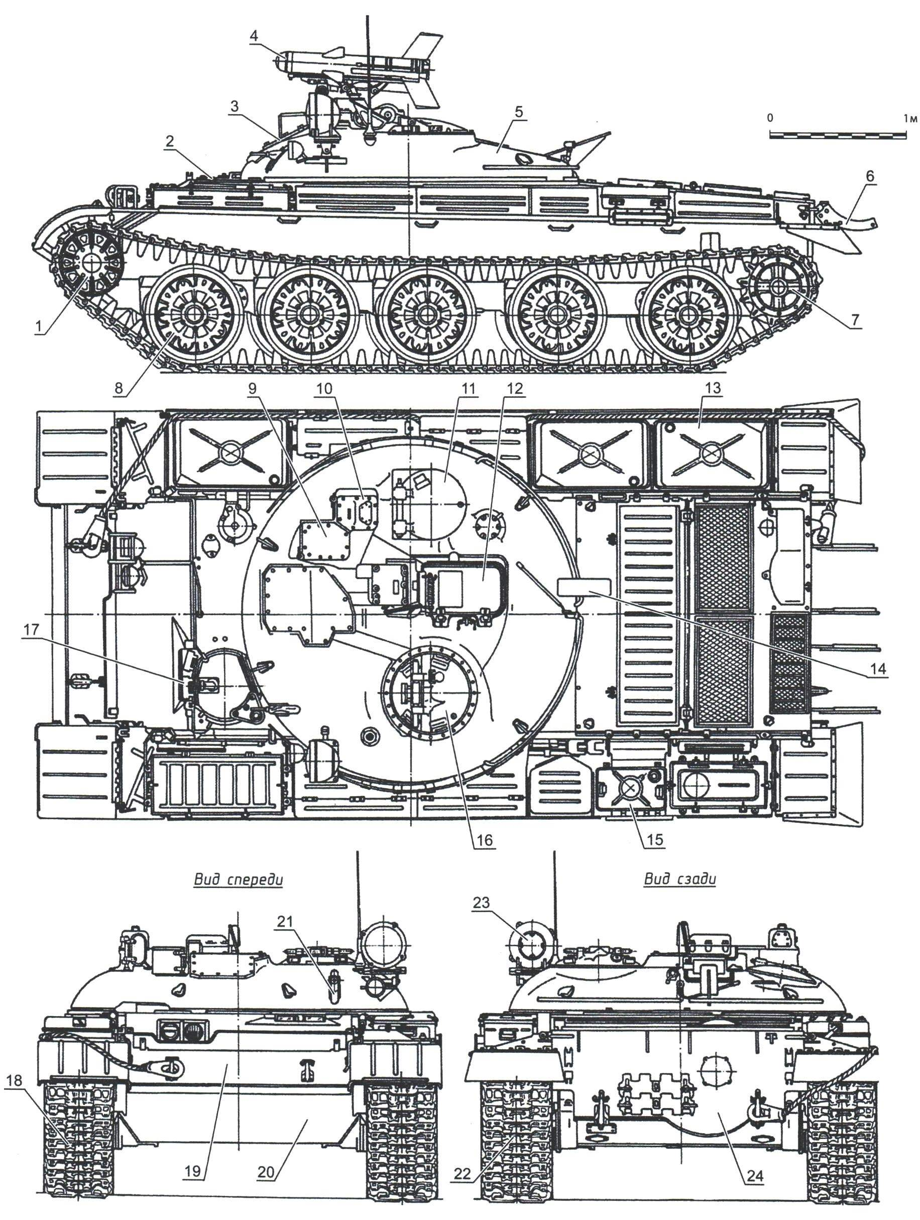 Схема танка ИТ-1