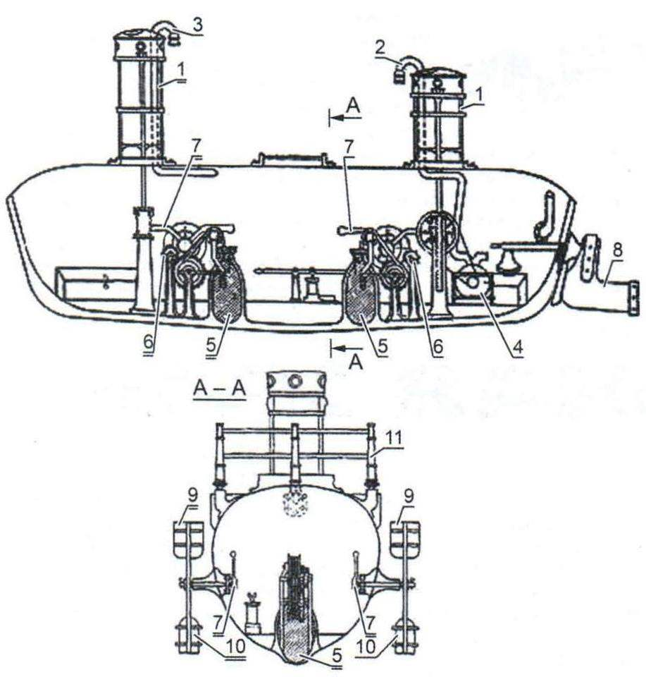 Подводная лодка Шильдера, Россия, 1834 г.