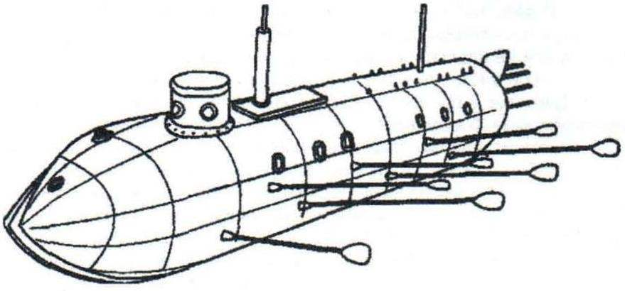 Проект подводной лодки К. Черновского