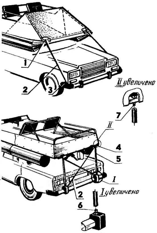 Крепление «Дельфина» на багажнике автомобиля