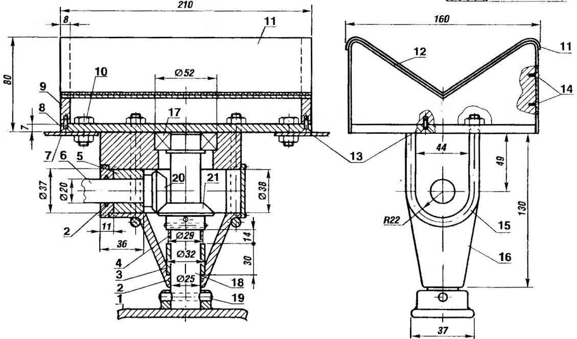Рис.6. Редуктор поворота переднего колеса