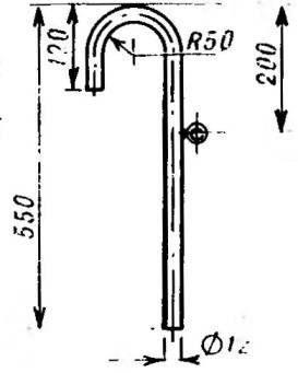 Дюралюминиевый крюк с кольцом для крепления веревки
