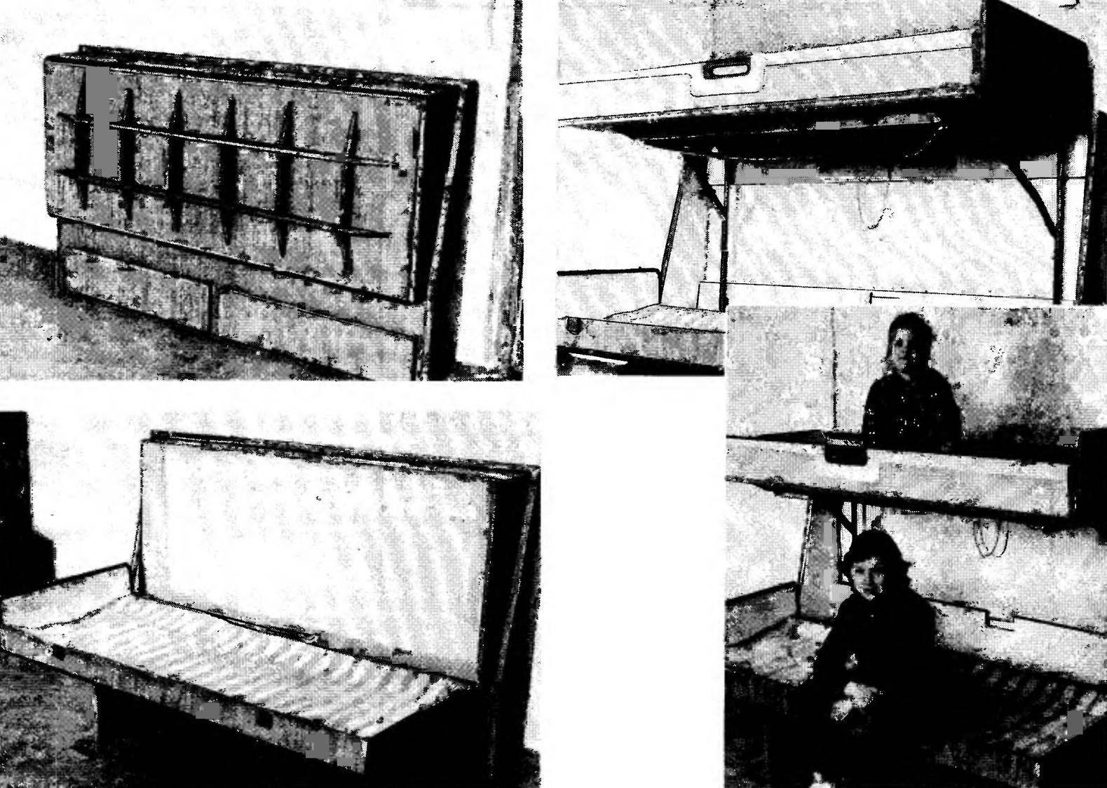 В этом компактном пристенном пенале — двухэтажная кровать.