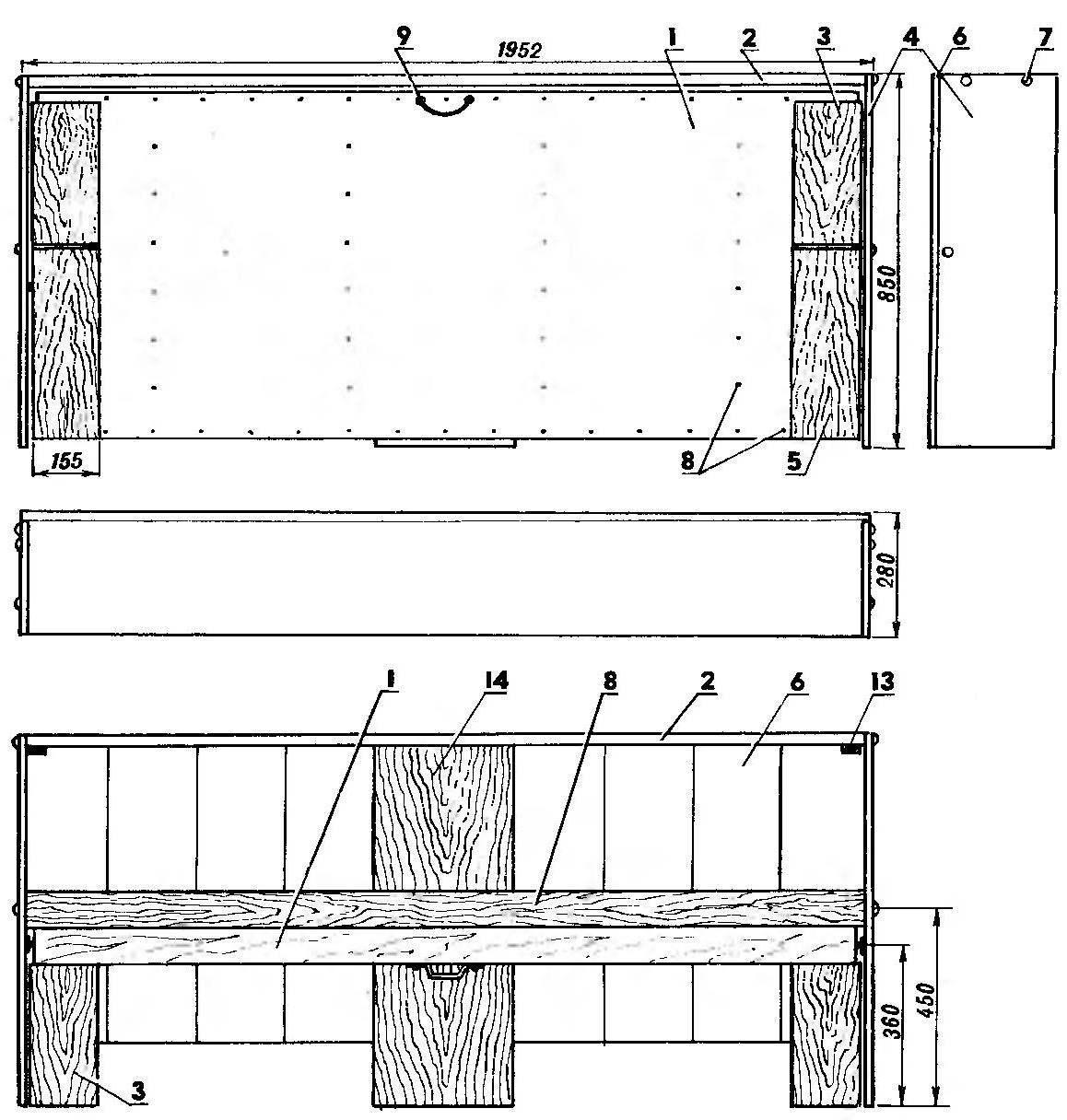 Рис. 1. Откидная кровать (в убранном положении)