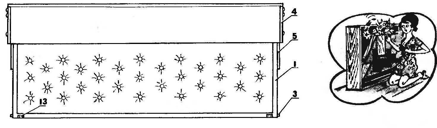 Рис. 2. Кровать в рабочем положении