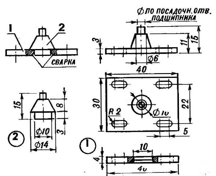 Рис. 5. Фланец-шарнир (подшипник условно не показан)