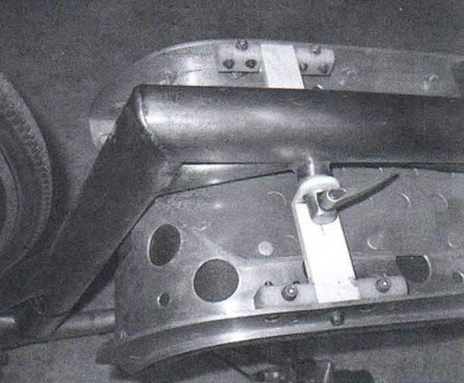 Передняя опора и узел крепления лежака к раме