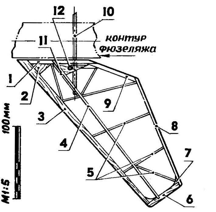 Рис. 6. Целыюповлрлтный стабилизатор-руль высоты