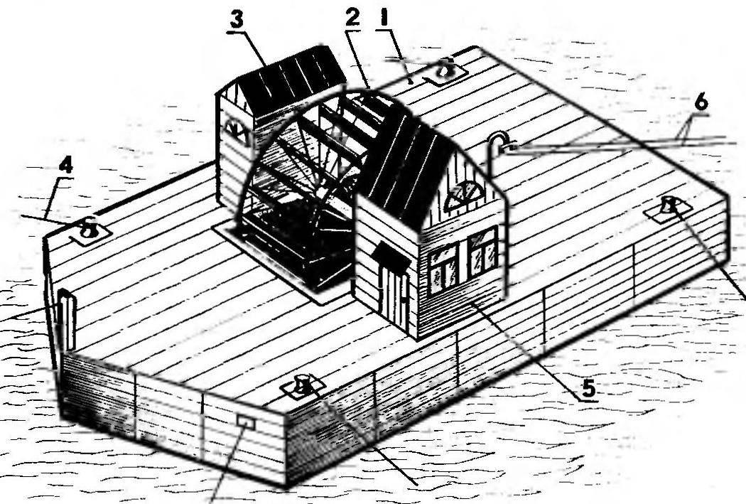 Байдачная свободноногочная мини-ГЭС конструкции инженера Б. Кажинского
