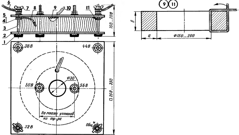 Сварочный трансформатор с магнитонроводом из статора сгоревшего электродвигателя