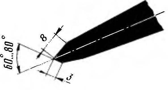 Заточка зубила-крейцмейселя