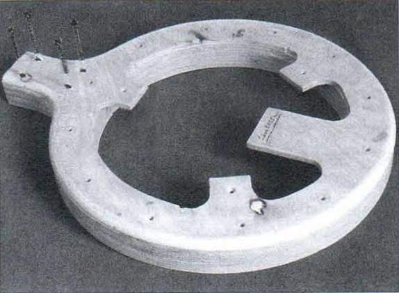 Заготовка корпуса банджо: пять колец из 8-мм фанеры