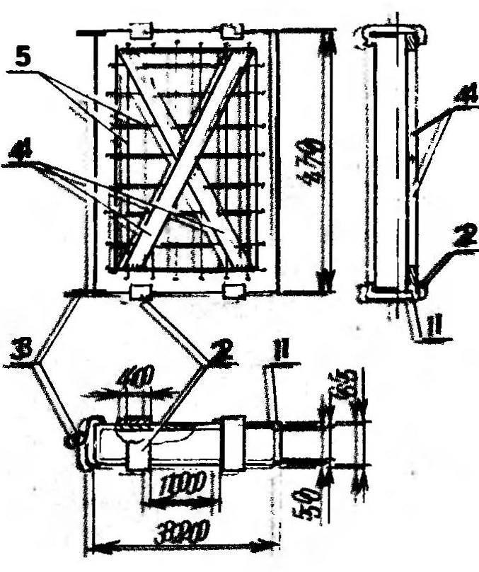 Рис. 3. Пакет сотовый (закладываемая внутрь рамка с сотами условно не показана):