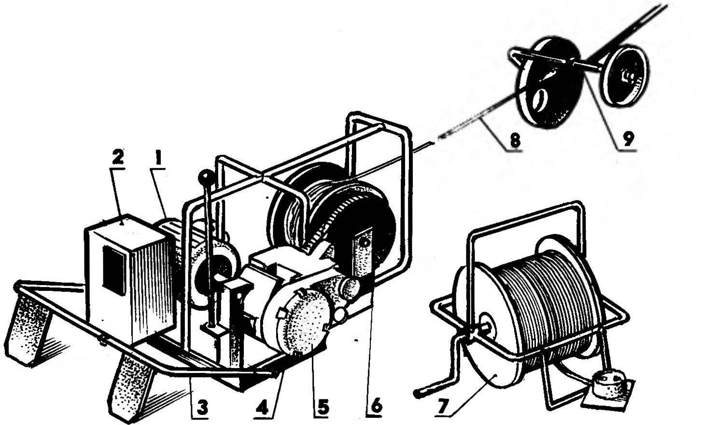 Как сделать лебедку для плуга своими руками чертежи размеры и фото