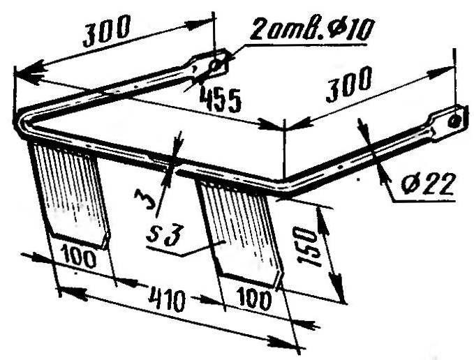 Конструкция якоря (концы «лап» затачивают под углом 18 градусов).