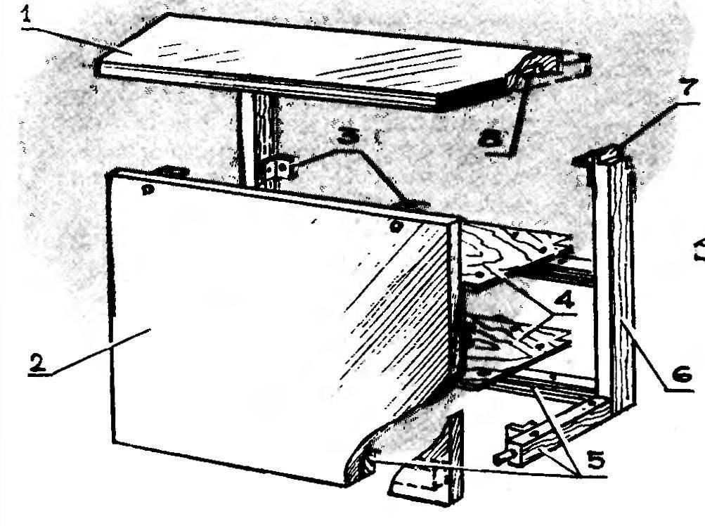 Рис. 2. Основные элементы шкафа