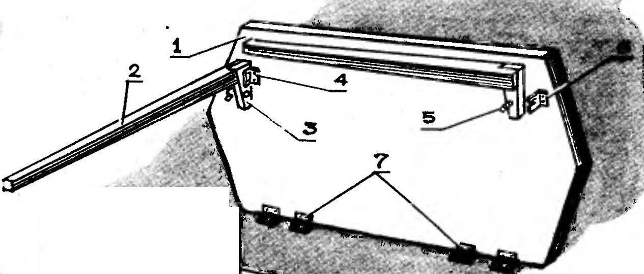 Рис. 3. Столешница с ножками в сборе