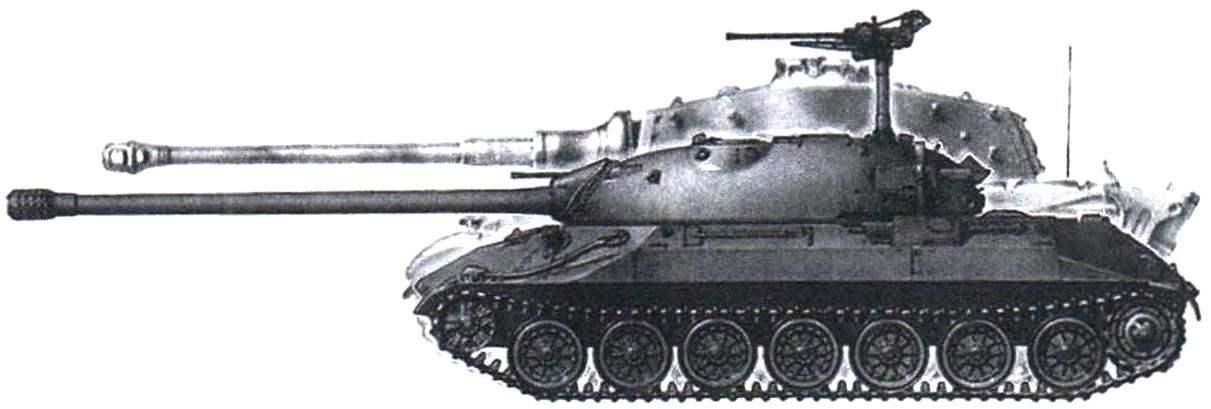 Корпуса танка ИС-7 и немецкого «Тигра»