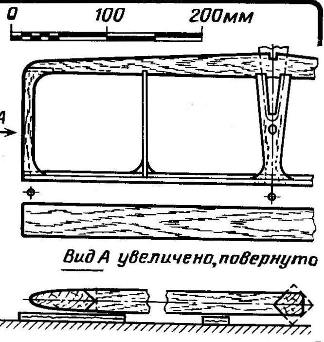 Рис. 6. Конструкция горизонтального оперения