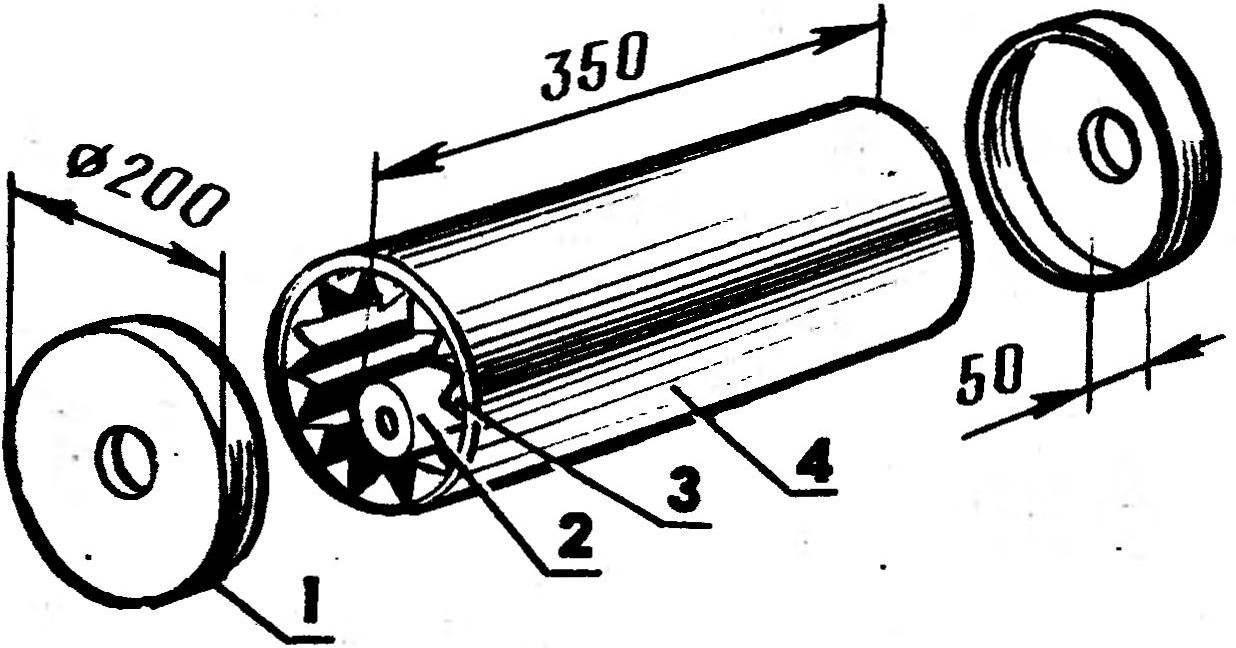 Сборка сигнального устройства для колесного вертела