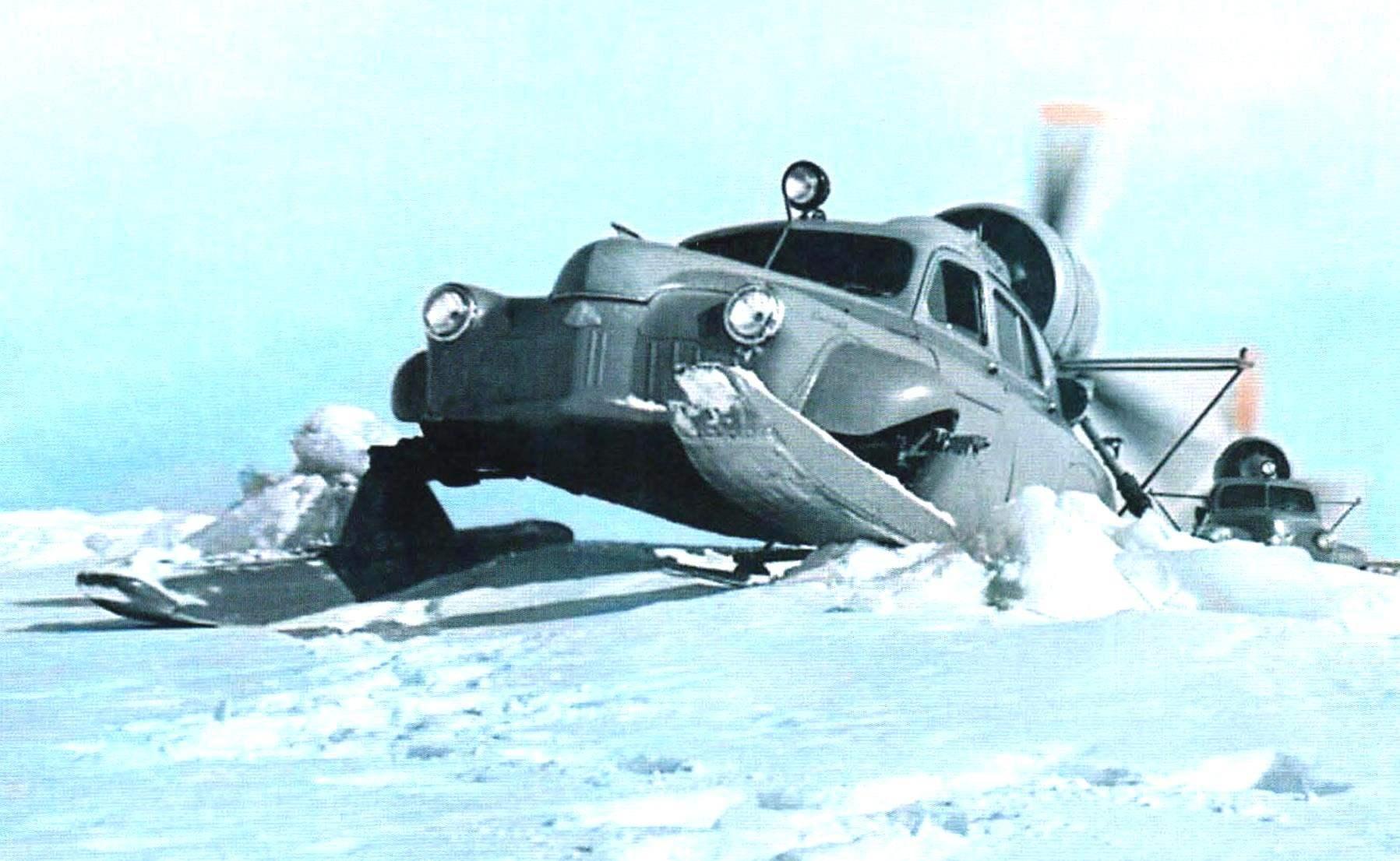 Аэросани «Север-2» в испытательном пробеге