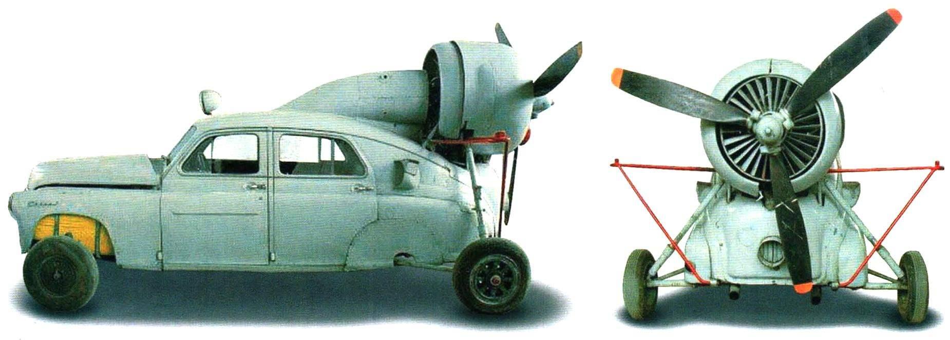 Аэросани «Север-2» на выкатном шасси - экспонат Музея ВВС России (Монино)